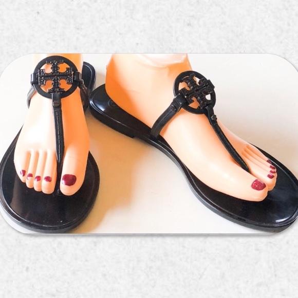 6e51b651418f Tory Burch Flat Jelly Thong Sandals. M 5c639cb9035cf161589ce733